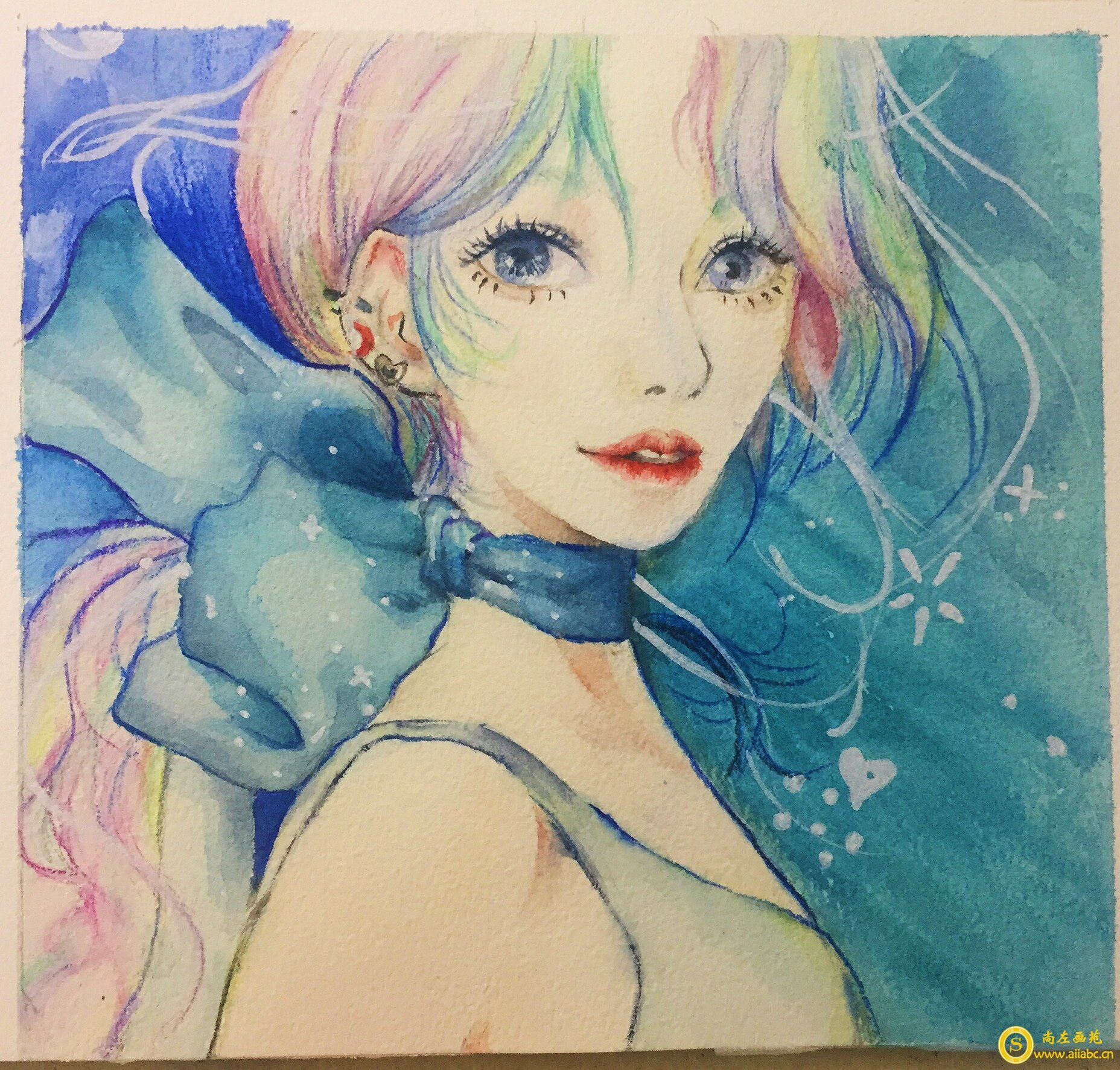 零基础入门水彩手绘活力少女