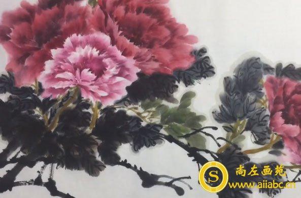 美术培训班-国画牡丹绘画视频