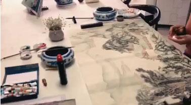 国画山水画视频-课堂培训视频