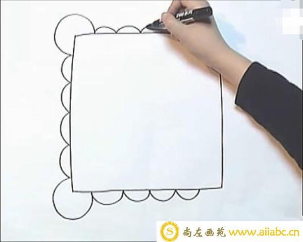 儿童水彩画简单教程:漂亮的儿童画手帕教程
