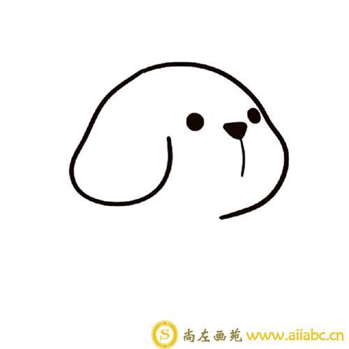 可爱的小狗怎么画一步一步教
