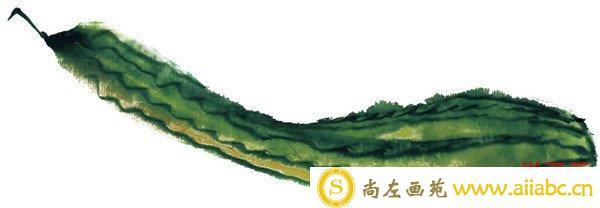 水墨黄瓜纹路