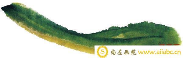 水墨黄瓜绘画轮廓