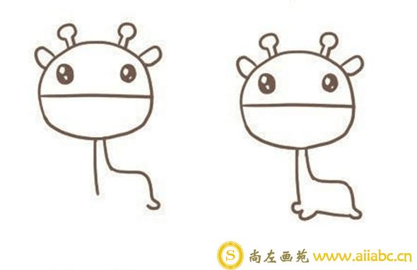 怎么画长颈鹿?可爱的长颈鹿简笔画教程