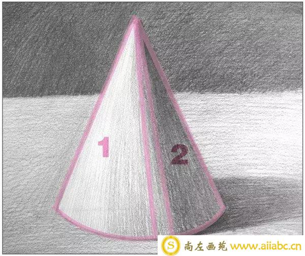 素描圆锥体的画法教程