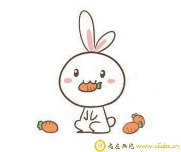 小兔子怎么画?可爱的小兔子儿童画教程