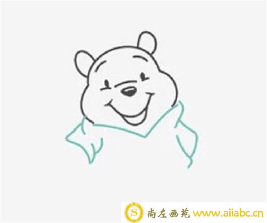 儿童画教程:小熊维尼的绘画步骤