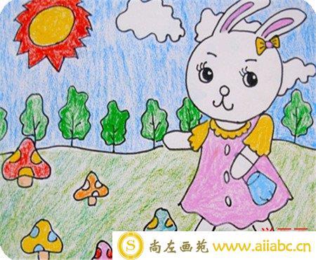 儿童画春天:我为春天画了一幅画