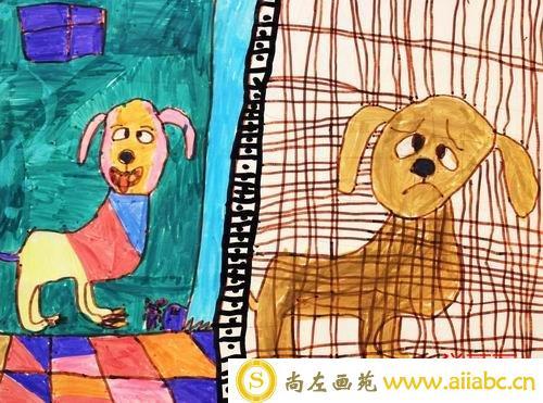 儿童水彩笔画铜奖作品:我们的朋友,参赛年龄8岁