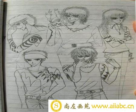 动漫铅笔画:动漫人物铅笔画教学