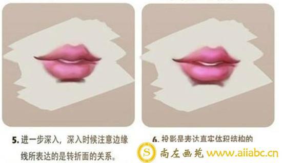 CG插画入门:人物五官嘴唇的CG插画具体教学
