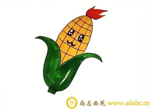 儿童画玉米教程
