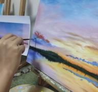 长沙美术培训班零基础学员的绘画油画作