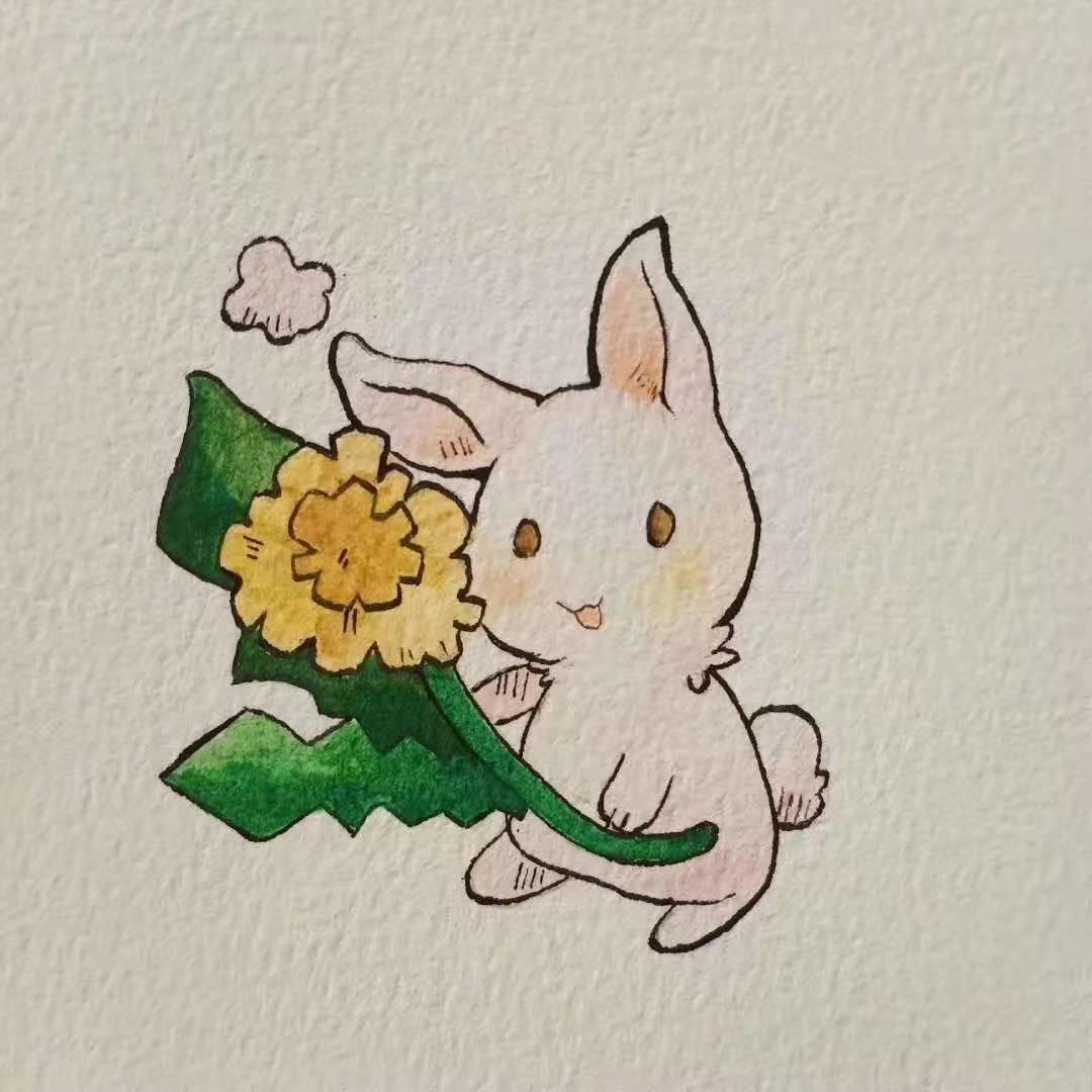 少儿美术培训作品小兔子